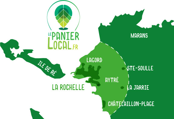 Zones de distribution Le Panier Local