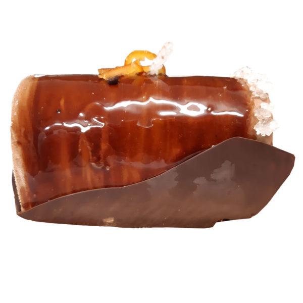 Bûche de Noël crème glacée chocolat sorbet mandarine